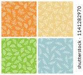 set of autumn seamless patterns.... | Shutterstock .eps vector #1141282970