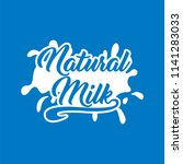 milk logo and labels designs.... | Shutterstock .eps vector #1141283033