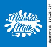 milk logo and labels designs.... | Shutterstock .eps vector #1141284269
