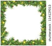 christmas blank frame | Shutterstock . vector #114129013