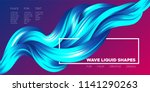 abstract flow background. wave... | Shutterstock .eps vector #1141290263