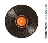 vinyl record isolated on white | Shutterstock .eps vector #114129040