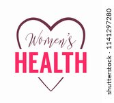 womens health logo with heart... | Shutterstock .eps vector #1141297280