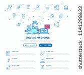 online medicine concept  doctor ... | Shutterstock .eps vector #1141298633