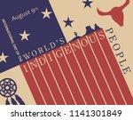 international day of the worlds ... | Shutterstock .eps vector #1141301849