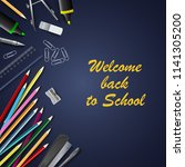 back to school with aids on... | Shutterstock .eps vector #1141305200