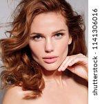 beautiful young model woman... | Shutterstock . vector #1141306016
