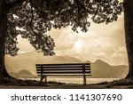 kochel lake   bavaria   germany ... | Shutterstock . vector #1141307690