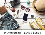 travel accessories costumes.... | Shutterstock . vector #1141311596