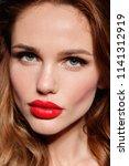 beautiful young model woman... | Shutterstock . vector #1141312919