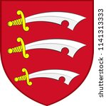coat of arms of essex is a... | Shutterstock .eps vector #1141313333
