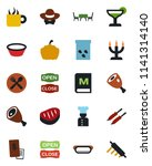 color and black flat icon set   ... | Shutterstock .eps vector #1141314140