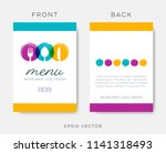 abstract restaurant menu... | Shutterstock .eps vector #1141318493