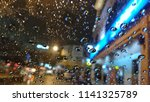 abstract image of rain drops on ... | Shutterstock . vector #1141325789