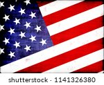 american flag textured... | Shutterstock . vector #1141326380