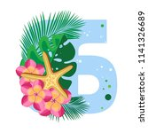 isolated vector digits  exotic... | Shutterstock .eps vector #1141326689