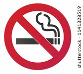 no smoking  sign. forbidden... | Shutterstock .eps vector #1141328519