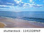 panoramic view of evening sea... | Shutterstock . vector #1141328969