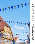 oktoberfest decoration in the... | Shutterstock . vector #1141333166