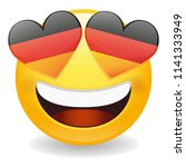 germany love emoji face vector... | Shutterstock .eps vector #1141333949
