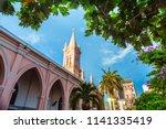 da nang cathedral and beautiful ... | Shutterstock . vector #1141335419