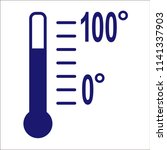thermometer vector icon on... | Shutterstock .eps vector #1141337903