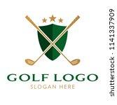 golf logo icon template   Shutterstock .eps vector #1141337909