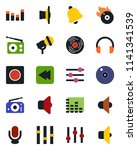 color and black flat icon set   ... | Shutterstock .eps vector #1141341539