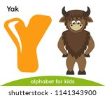 Yellow Letter Y And Brown Yak....