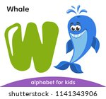 green letter w and blue smiling ... | Shutterstock .eps vector #1141343906