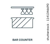 bar counter icon. outline style ...