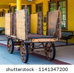 Vintage Rusty Luggage Cart At...