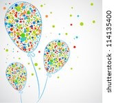 funny balloons. vector   Shutterstock .eps vector #114135400