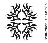 ornamental abstract ink shape.... | Shutterstock .eps vector #1141354916