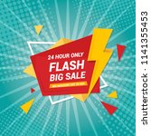 flash sale banner template... | Shutterstock .eps vector #1141355453