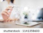 organisation structure chart ...   Shutterstock . vector #1141358603