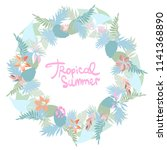 summer tropical background with ... | Shutterstock .eps vector #1141368890
