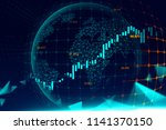 futuristic concept of global... | Shutterstock . vector #1141370150