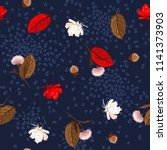 beautiful autumn leaves pine...   Shutterstock .eps vector #1141373903