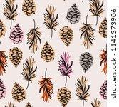 beatiful trendy vintage... | Shutterstock .eps vector #1141373906
