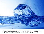 fresh water splash in blue... | Shutterstock . vector #1141377953