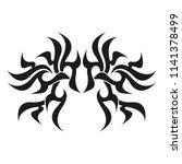 ornamental abstract ink shape.... | Shutterstock . vector #1141378499