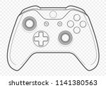 vector outline for playing... | Shutterstock .eps vector #1141380563