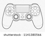 vector outline for playing... | Shutterstock .eps vector #1141380566