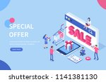 discount sale  concept with... | Shutterstock .eps vector #1141381130