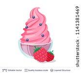 ice cream refreshing dessert.... | Shutterstock .eps vector #1141381469