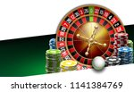 illustration online poker... | Shutterstock .eps vector #1141384769