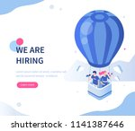 we are hiring concept with... | Shutterstock .eps vector #1141387646