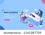 employment concept with... | Shutterstock .eps vector #1141387739