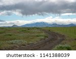 hekla volcano covered in clouds   Shutterstock . vector #1141388039